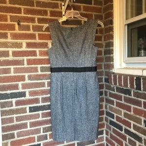 Grey wool blend sheath dress size 10 EUC Banana Re